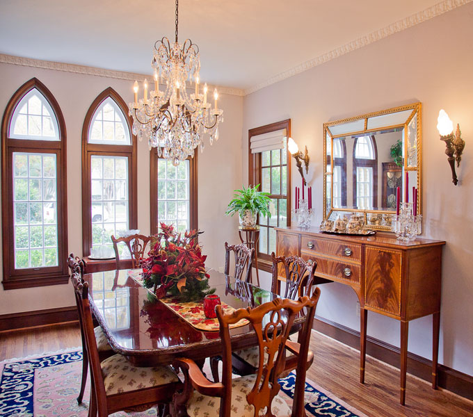 Photo of remodeled formal dining room.
