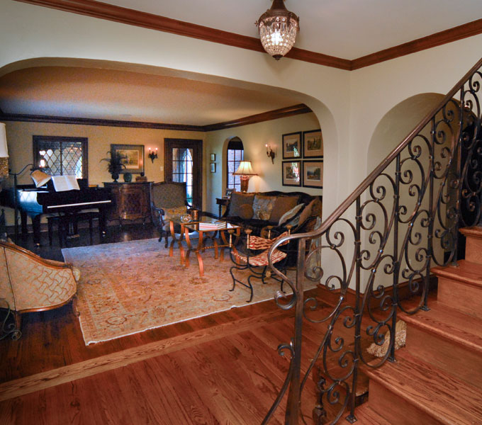 Photo of Interior view of formal living area from foyer