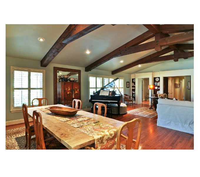 Photo Of A Rennovated Living Room And Dining To Reflect This Ranch Style Home